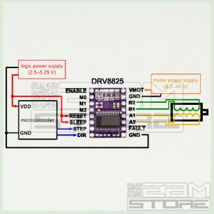 Driver 1 asse DRV8825 per motori passo passo