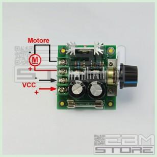 Driver DC 10A 12-40V - Dimmer regolatore di velocità giri