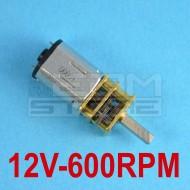 Micromotore 12V 600 RPM con riduttore - per modellismo
