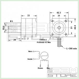 Motore passo passo NEMA17