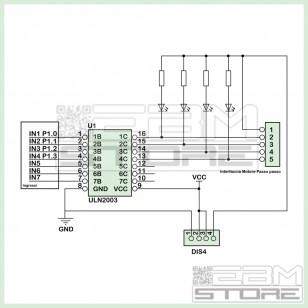 Motore passo passo con driver ULN2003A