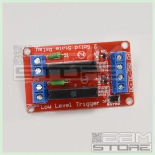 Modulo 2 relè stato solido 5V - 240V - modulo relay SSR arduino