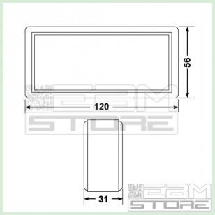 Contenitore 120x56x31 mm - custodia per elettronica in ABS nero