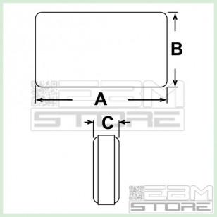 Contenitore 73x40x20 mm - custodia per elettronica in ABS nero