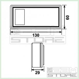 Contenitore 130x60x29 mm - custodia con portabatteria in ABS nero