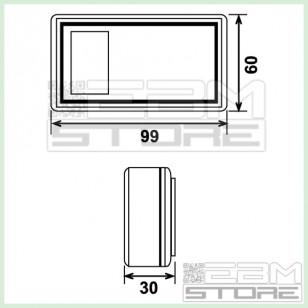 Contenitore 99x60x30 mm - custodia con portabatteria in ABS nero