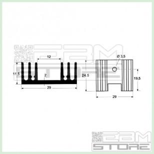 Dissipatore termico per TO220- aletta di raffreddamento