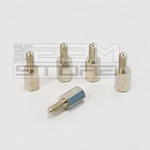 5pz Distanziale metallo M-F M3 8mm