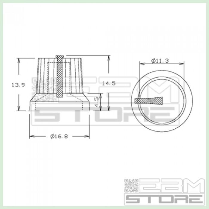 V005 potenziometro potenziometri pressione Manopola BIANCA ART