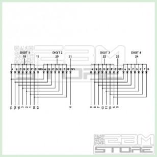 Display quattro cifre 7 segmenti rosso anodo comune LTC-2637E