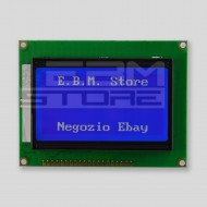 Display lcd grafico 128x64 retroilluminato BLU