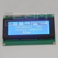 Display lcd 20x4 caratteri retroilluminato BLU compatibile HD44780