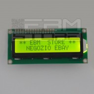 Display lcd 16x2 retroilluminato verde standard HD44780