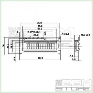 Display lcd 16x2 caratteri retroilluminato BLU HD44780