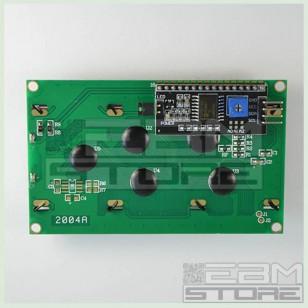 Display SERIALE VERDE 20x4 - PCF8574 IIC/I2C LCD retroilluminato