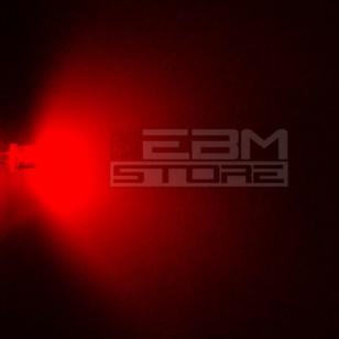 10pz Led FLAT TOP rossi alta luminosità 5.000 mcd 5 mm