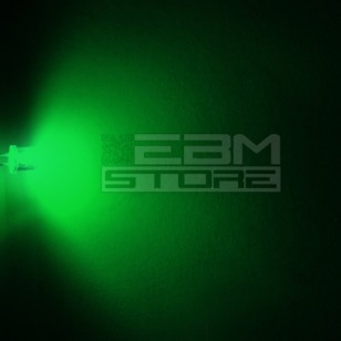 10pz Led FLAT TOP verdi alta luminosità 600 mcd 5 mm