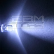 10pz Led bianco alta luminosità 5 mm - 20.000 mcd