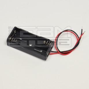 Portabatterie CON FILI per 2 pile mini-stilo AAA