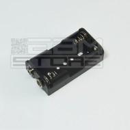 Portabatterie per 2 pile stilo AA
