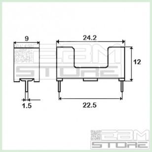 4pz Portafusibile nero da c.s.per fusibili 5x20