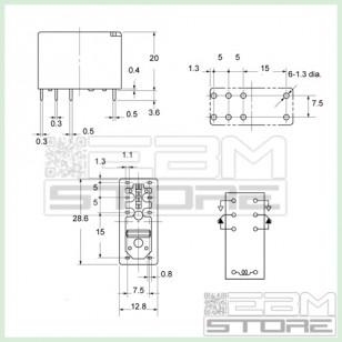 Relay 12Vdc - 5A - 2 contatti