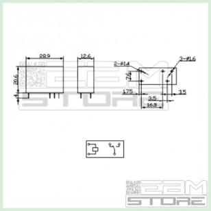Relay 5Vdc - 10A - 1 contatto