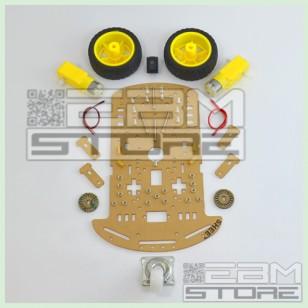 KIT COMPLETO robot 2 ruote - chassis piattaforma shield arduino pic