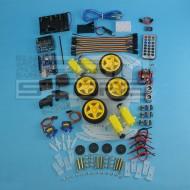 KIT COMPLETO robot 4 ruote - chassis piattaforma shield arduino pic
