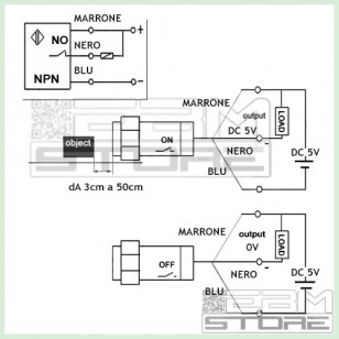 Sensore a riflessione fotocellula IR - E18-D80NK