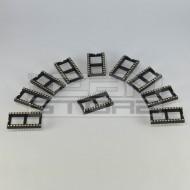 SOTTOCOSTO 10pz zoccoli 24 pin LARGHI TORNITI per circuiti integrati