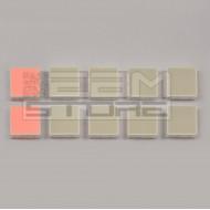 SOTTOCOSTO 10pz led rosso quadrato - HLMP-2655
