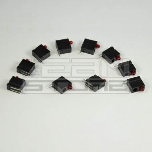 SOTTOCOSTO 10pz portaled da c.s. 90° con led rosso 3mm
