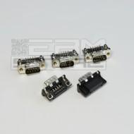 SOTTOCOSTO 5pz Connettore SUB-D 9 poli MASCHIO - RS232 seriale