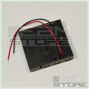 SOTTOCOSTO 4pz Portabatterie CON FILI per 4 pile stilo tipo AA
