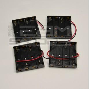 SOTTOCOSTO 4pz Portabatterie CON FILI per 4 pile stilo tipo