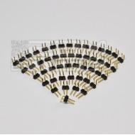 SOTTOCOSTO 50 pz Connettori strip line 2 poli maschio 90°