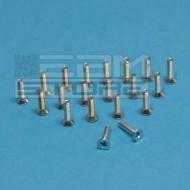 SOTTOCOSTO 20pz bullone in metallo M2,5 x 8mm testa svasata