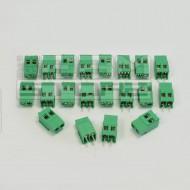 SOTTOCOSTO 20pz morsetti 2 poli H=19mm - da circuito stampato pcb