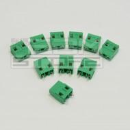 SOTTOCOSTO 10pz morsetti 2 poli H=19mm P=10mm- da circuito stampato pcb