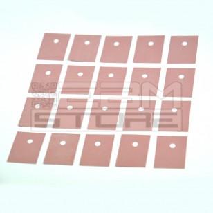 SOTTOCOSTO 20pz Isolatore 19x25,4mm - sil pad 900S