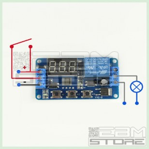 Temporizzatore PROGRAMMABILE - timer 12V con display