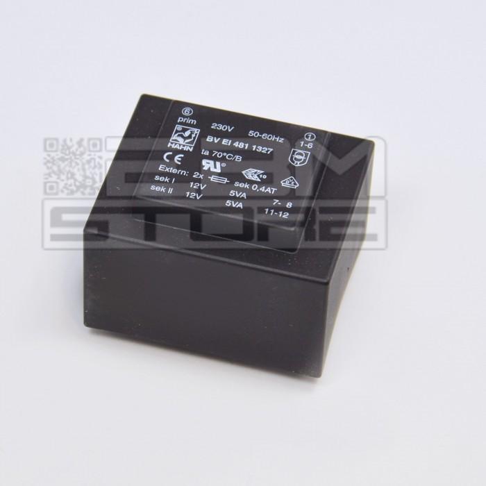 Trasformatore incapsulato 10VA 230V Doppia Uscita 2x6V