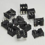 10pz Zoccolo 6 pin per circuiti integrati DIL