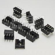 10pz Zoccolo 8 pin per circuiti integrati DIL