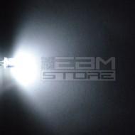 10pz Led FLAT TOP bianchi alta luminosità 1.200 mcd 5 mm