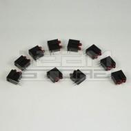 SOTTOCOSTO 10pz portaled da c.s. 90° con 2 led rosso 3mm