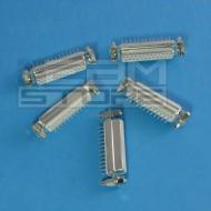 SOTTOCOSTO 5pz connettore sub-D 25P femmina VERTICALE - parallela
