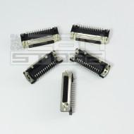 SOTTOCOSTO 5pz connettore sub-D 25P femmina 90° - parallela